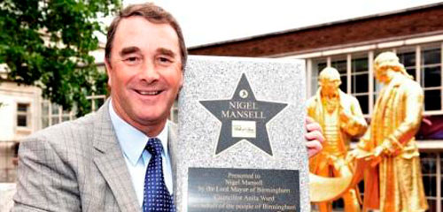 Nigel Mansell a son étoile à Birmingham