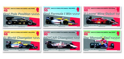 Une série de timbres en hommage à Nigel Mansell